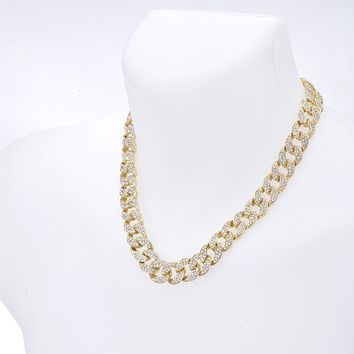 "Jewelry Kay style Men's Fashion Hip Hop Heavy Iced Out 15 mm CZ Stoned 20"" Cuban Chain Necklace"