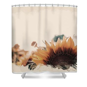 Wildlife Series - Sunflowers - Shower Curtain