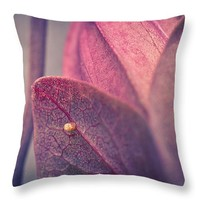 "Gulf Fritillary Butterfly Egg 14"" x 14"" Throw Pillow for Sale by Priya Ghose"