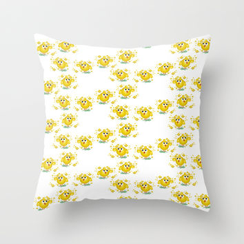 Chicks pattern  Throw Pillow by VanessaGF