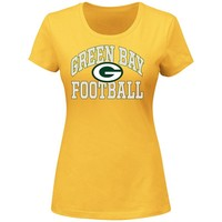 Majestic Green Bay Packers Franchise Fit Tee - Women's, Size: