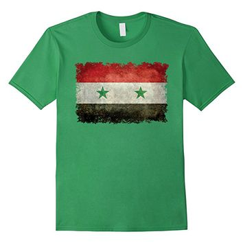 Syrian Flag T-Shirt with distressed textures