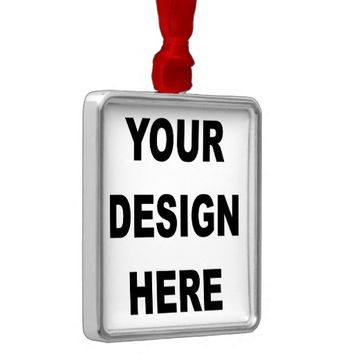 Create Your Own Custom Premium Square Ornament