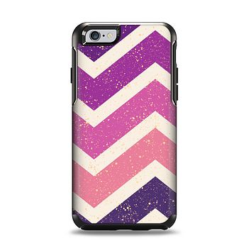 The Purple Scratched Texture Chevron Zigzag Pattern Apple iPhone 6 Otterbox Symmetry Case Skin Set