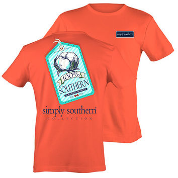 Simply Southern Ticket Top - Coral