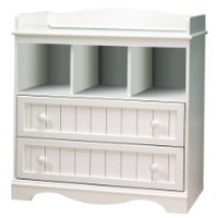 My Associates Store - South Shore Savannah Collection Changing Table, Pure White