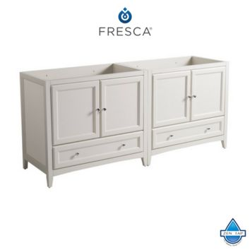 "Fresca Oxford 71""-72"" Traditional Double Sink Bathroom Cabinets"