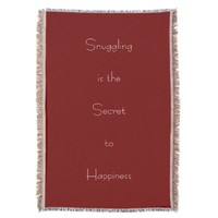Snuggling is the Secret to Happiness Throw Blanket