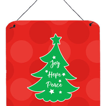Christmas Tree Red Green Wall or Door Hanging Prints BB6971DS66