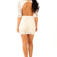 Forever In Lace Dress: Cream
