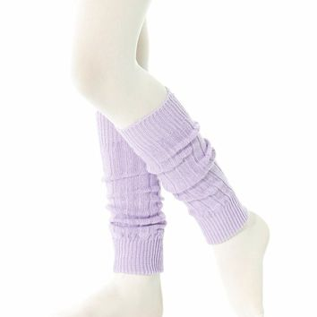 Pair LEG WARMERS Soft Stretchy Cuffs Ankle Leggings Slouchy Boot Sock NEON PINK