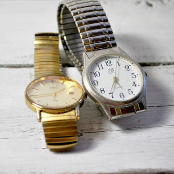 Timex Watch Water Proof , Japan Movement Watch , Flexible Wrist Band , Stainless Steel Watches