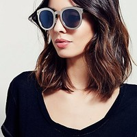 Free People Womens Down And Out Metal Sunglass