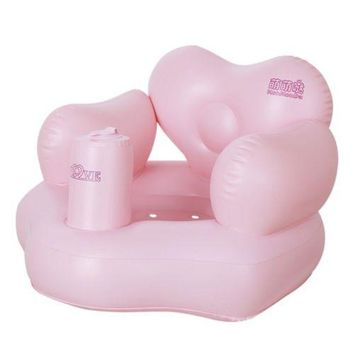 Heart Shape  Inflatable Bath Stool Sofa Chair