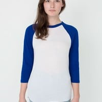 bb453w - Unisex Poly-Cotton 3/4 Sleeve Raglan Shirt