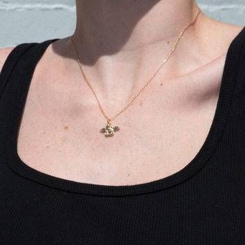 Gold Angel Charm Necklace - Jewelry - Accessories