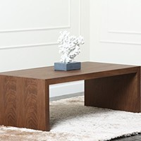 Abbyson Living Quincy Coffee Table, Medium, Walnut