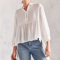 Kimchi Blue High/Low Peplum Blouse - Urban Outfitters