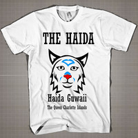 THE HAIDA-The Queen Charlotte Islands  Mens and Women T-Shirt Available Color Black And White
