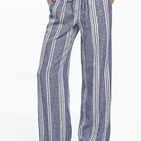 Wide-Leg Linen-Blend Pants for Women | Old Navy