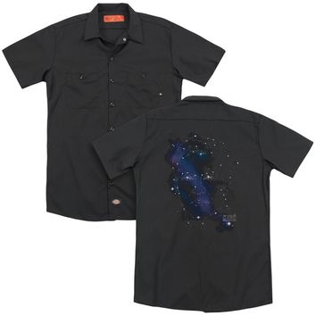 Star Trek - Kirk Constellations (Back Print) Adult Work Shirt