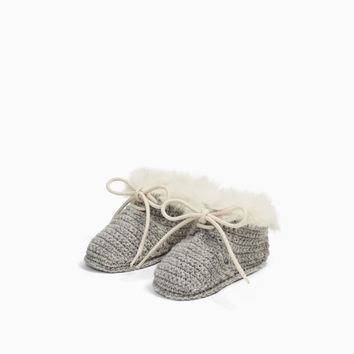 CHUNKY KNIT CASHMERE BOOTS