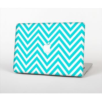 "The Trendy Blue Sharp Chevron Pattern Skin Set for the Apple MacBook Pro 13"" with Retina Display"