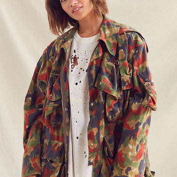 Vintage Multi-Colored Camo Jacket | Urban Outfitters