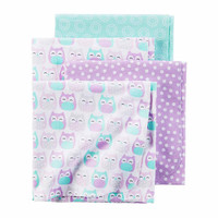 Carter's Girl Purple Owl 4pk Blankets - JCPenney
