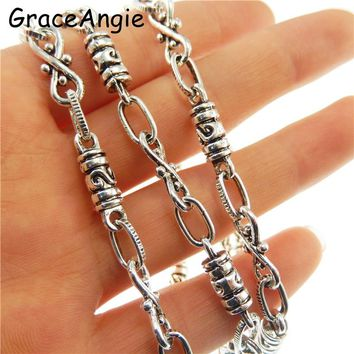1Meter  Chains Necklaces For Women/Men Accessories Silver Rolo Link Chain 10*mm Jewelry Accessories Long Hoop Chain Statement