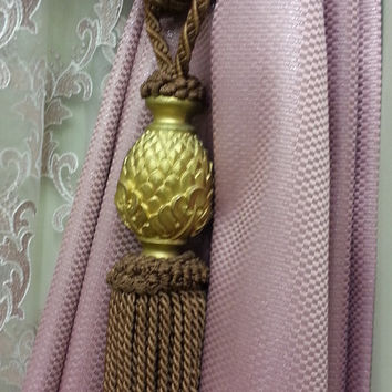 Curtain Accessories - Macrame Curtain Accessories - Brown Accessories - F709