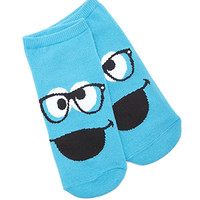 FOREVER 21 Cookie Monster Reader Socks Blue/Black One