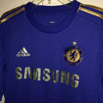 Sale!! Vintage Adidas Chelsea Fc Home soccer Jersey CFC England Football shirt Size La