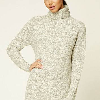 Marled Knit Fleece Sweater