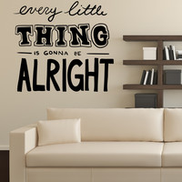 Vinyl Wall Decal Sticker Every Little Thing #OS_MB1224