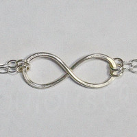 Silver Infinity Bracelet - Chained Sterling Silver Love And Friendship Bracelet