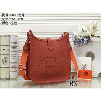 Hermes Women's Fashion Leather Tote Shoulder Crossbody Bag size:25*9*28