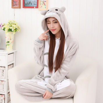 Cartoons Lovely Animal Couple Winter Home Sleepwear Halloween Costume [9221223620]