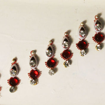 Bollywood Stunning Maroon Bindis / Tribal Bindi in New Styles.