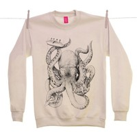 Street Market — Ohh Deer - When Cephalopods Attack - Sand Sweater By Jamie Mitchell