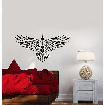 Vinyl Wall Decal Abstract Geometric Phoenix Bird Wings Stickers (3990ig)