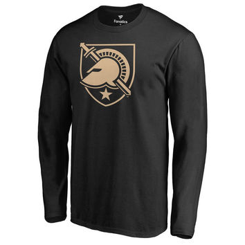 Men's Fanatics Branded Black Army Black Knights Primary Team Logo Long Sleeve T-Shirt