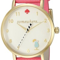 kate spade new york Women's 1YRU0834 Metro Analog Display Japanese Quartz Pink Watch