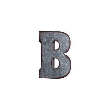 Letter B Metal Wall Decor | 3D Wall Letters Farmhouse Decor | Galvanized