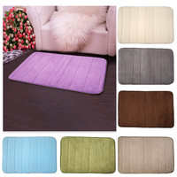New Home Bedroom Bath Mats Bathroom Horizontal Stripes Rug Non-slip Memory Foam Home decor