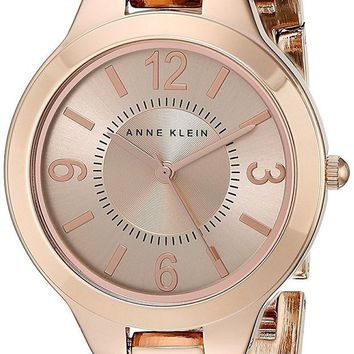 ICIKIN4 Anne Klein Women's Modern Link Rose Goldtone Bracelet Watch