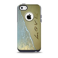 The Love beach Sand Skin for the iPhone 5c OtterBox Commuter Case