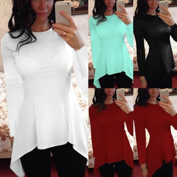 CELMIA Peplum Tops Blusas 2017 Sexy Women Blouses Short Sleeve O Neck Waist Slim Fit Casual Solid Femme Tops Shirt Plus Size 4XL