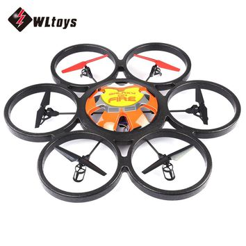 New WLtoys V323 Drones 2.4G 4CH 6-Axis Gyro 2MP Camera RTF RC Quadcopters Remote Control Hexacopter Flying Saucer Drone Dron Toy
