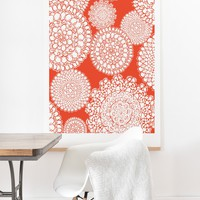 Heather Dutton Delightful Doilies Saffron Art Print And Hanger